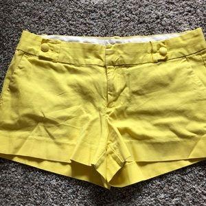 Banana Republic yellow shorts. Size 8.